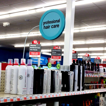 """""""professional hair care"""" in CVS"""