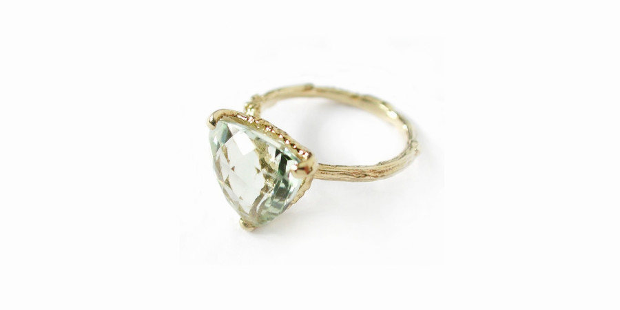 Green Amethyst Forest Jewel Ring, ALEX MONROE