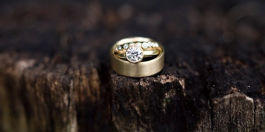Yellow Gold Ring Set: Photo by Katie Pietrowski