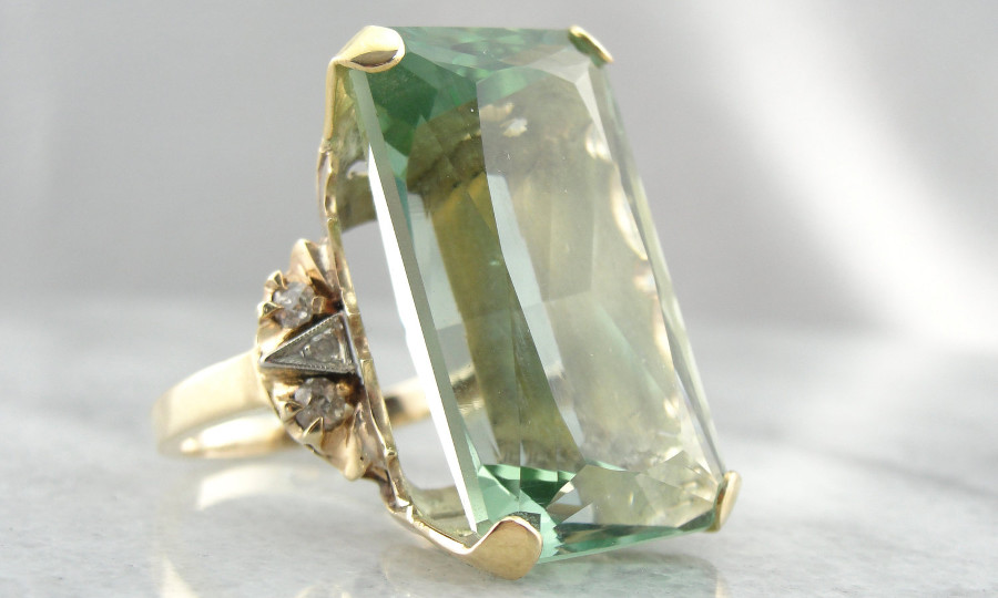 Vintage Beryl Ring: Market Square Jewelers
