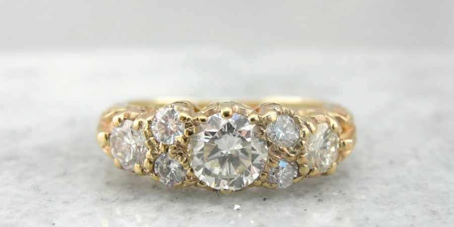 Flush Vintage Gold Ring: Market Square Jewelers