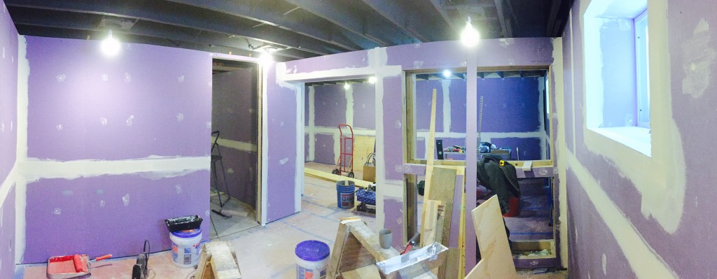 Our basement in progress.